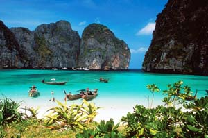 film the beach di krabi thailand