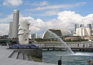 patung merlion di singapore