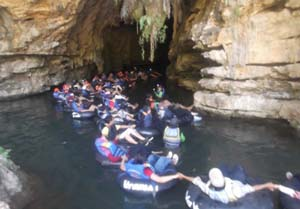 Exploring Pindul Cave by Cave Tubing