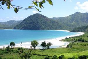 kuta beach at lombok
