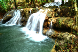 oenesu waterfall at kupang