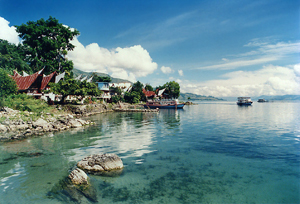 samosir island at north sumatra