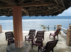 samosir island resort view