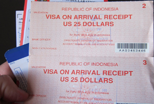 visa on arrival to bali