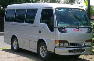 Rent Isuzu Elf with Driver