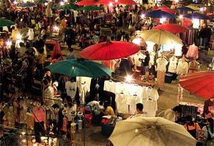night market chiang mai thailand
