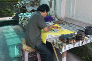 the manufacture of barong shirt bali