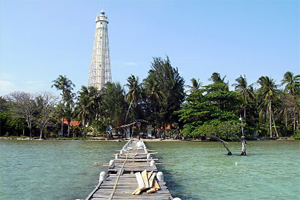 biawak island lighthouse indonesia