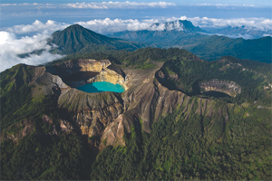 Kelimutu Lake a Unique Three-Colored Lake in Indonesia