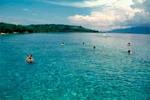 snorkling in menjangan island bali